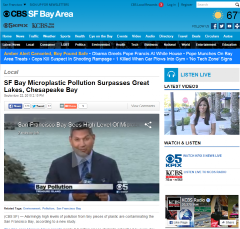 Kpix And Kntv Television Interview Rebecca Sutton About Microplastic
