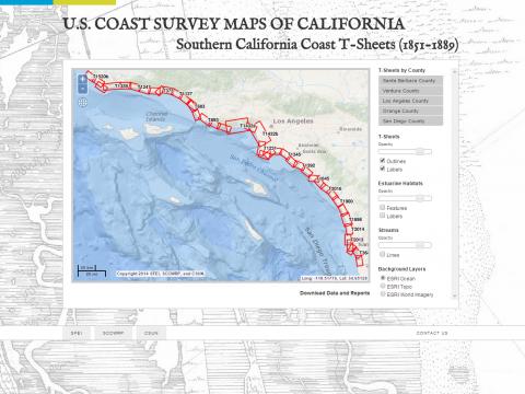 US Coast Survey Maps of California South Coast San Francisco