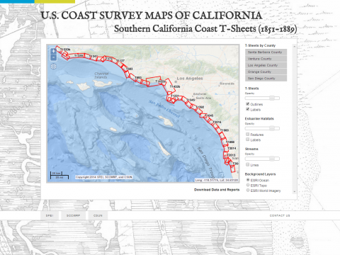 U S Coast Survey Maps Of California South Coast San Francisco